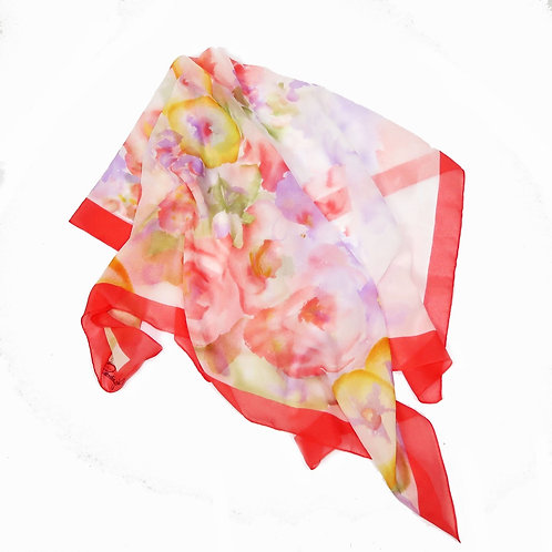 Vintage Sheer Watercolour Floral Headscarf