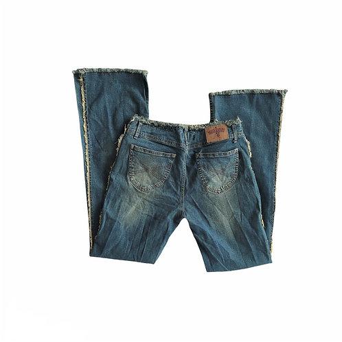 Vintage Y2K Miss Fiori Flared Frayed Hem Jeans
