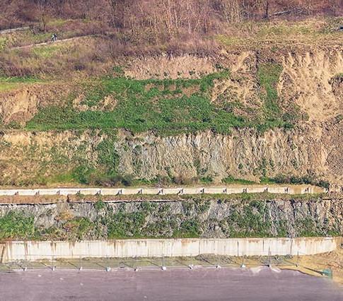 Composizione panoramica di versante