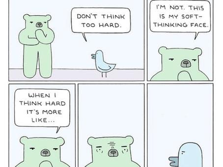 On thinking — hard and soft