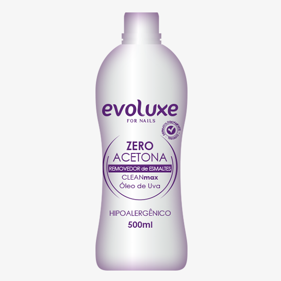 Removedor de Esmaltes Zero Acetona CLEANmax Evoluxe 500ml