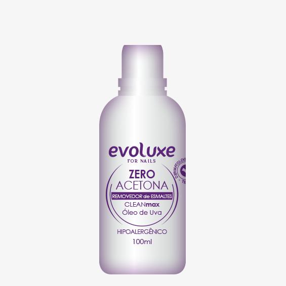 Removedor de Esmaltes Zero Acetona CLEANmax Evoluxe 100ml