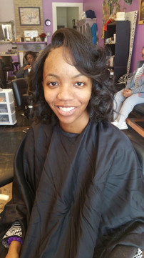 blow Out with curls hairwithbreanna nolahairstylist