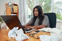 professional-black-businesswoman-working