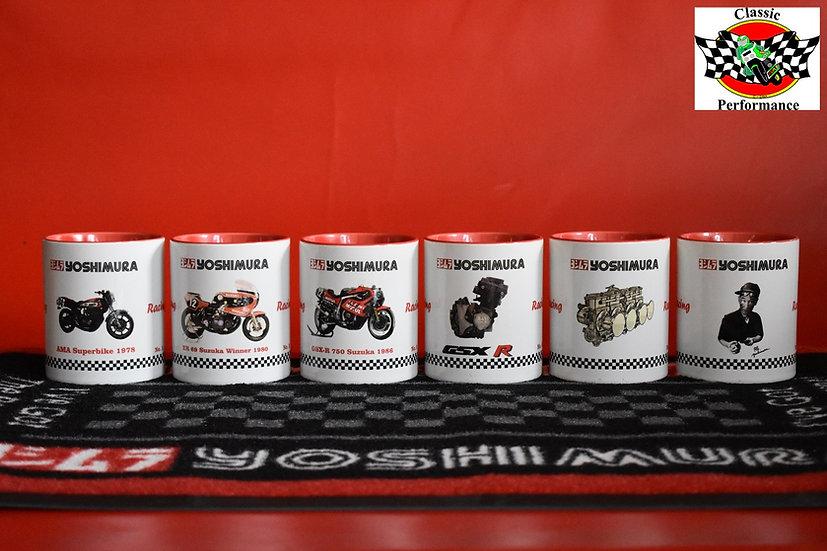 6 Sammeltassen mit Yoshimura Logo und Technik