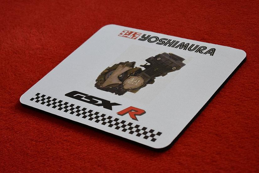 Mouspad GSX-R Racing Motor und Yoshimura Logo