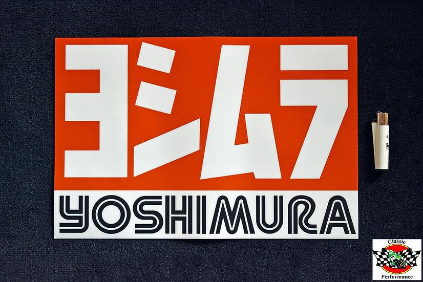 Werkstatt Aufkleber / Sticker 40 x 27 cm mit Yoshimura Logo