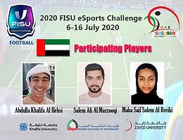 Al Marzouqi, Al Habsi and Al Bariki represent the UAE in the World University Championship for virtual football