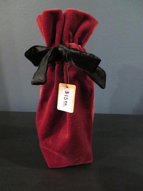 Red Velvet Wine Gift Bag