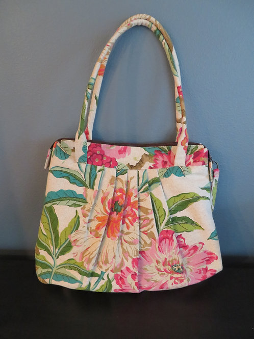 SUMMER FLORAL with brown zipper
