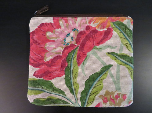 Large Red Flower with pink center and black dot interior liner
