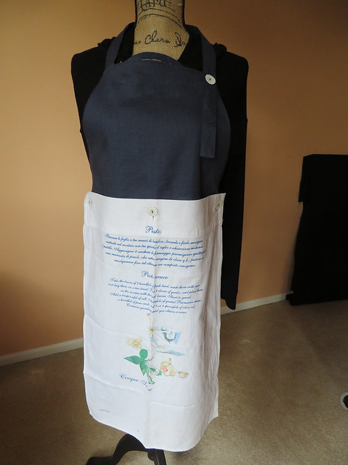 Navy blue with adjustable neck band and detachable towel from Cinque Terra Italy