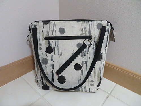 Black and Gray spots and streaks shoulder bag