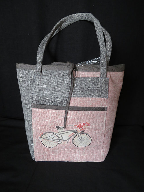 Bicycle in Pink and Grey