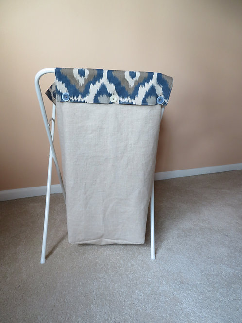 Linen with Blue Accents top