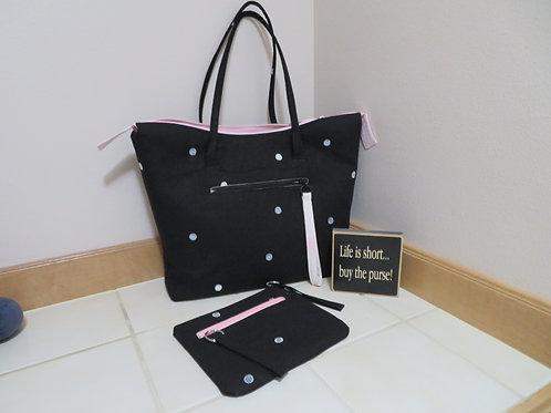 Black Linen Bag