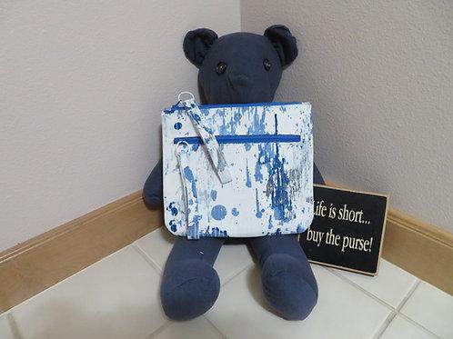 Blue Rainy Days with exterior zippered cell phone pocket