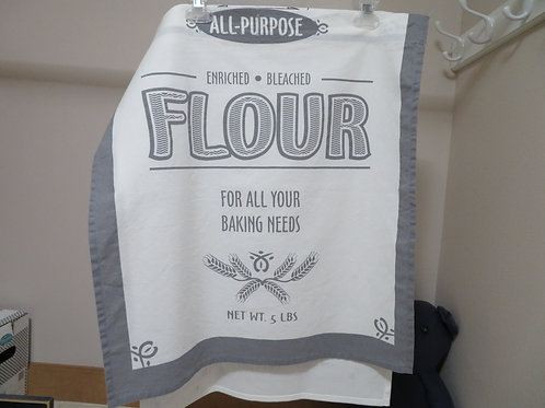 Flour Bag pattern with gray border