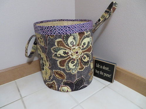 Large floral pattern with purple band on top