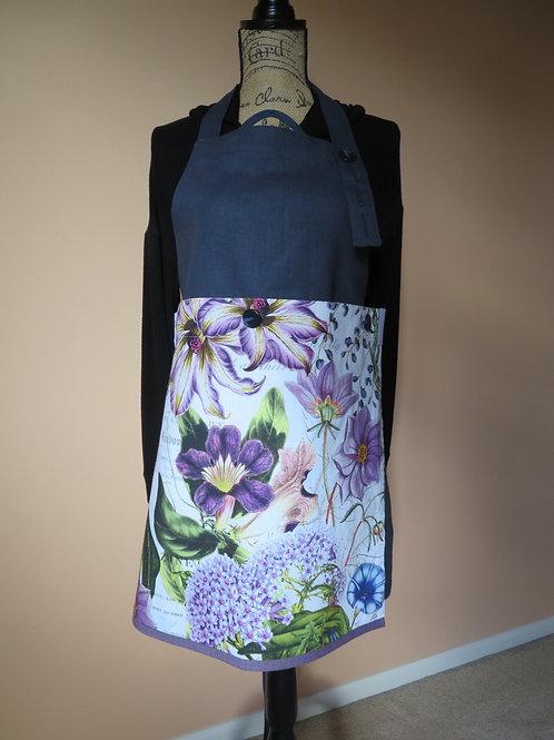True Blue with purple floral tea towel