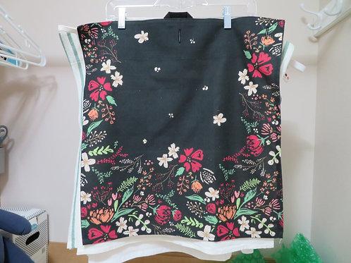 Bright floral pattern on black background