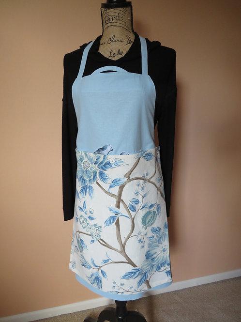 Blue Sky with detachable linen floral tea towel