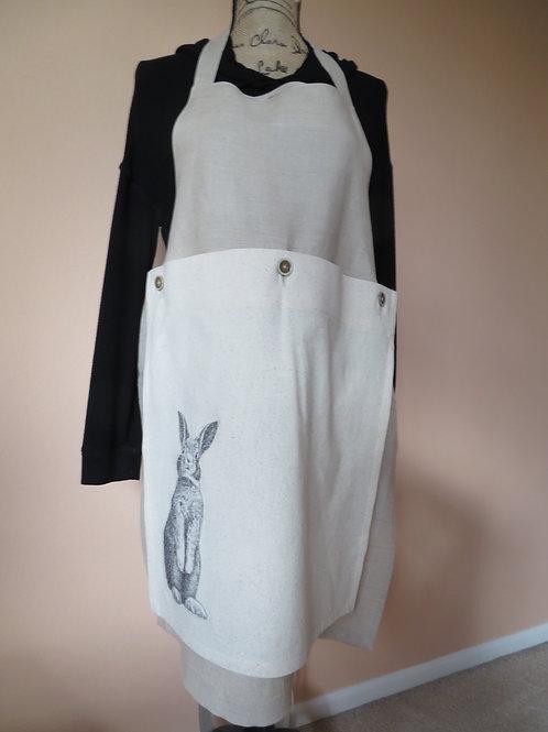 Dark beige with bunny detachable towel