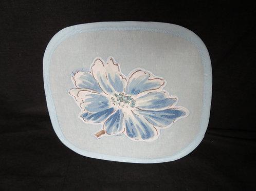 Blue Flower on blue background