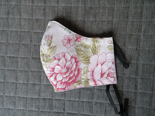 Pink floral with green leaves