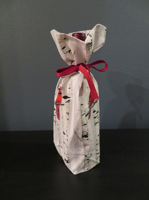 Red Bird in Beech Tree Wine Bottle Bag