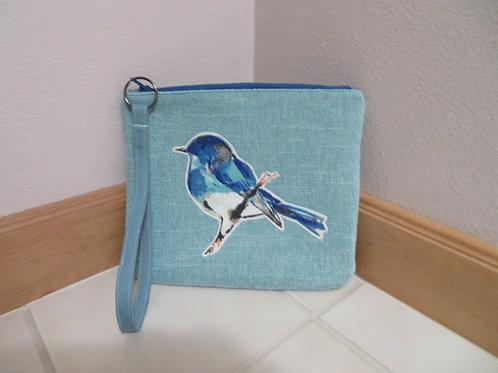 Bluebird turquoise clutch