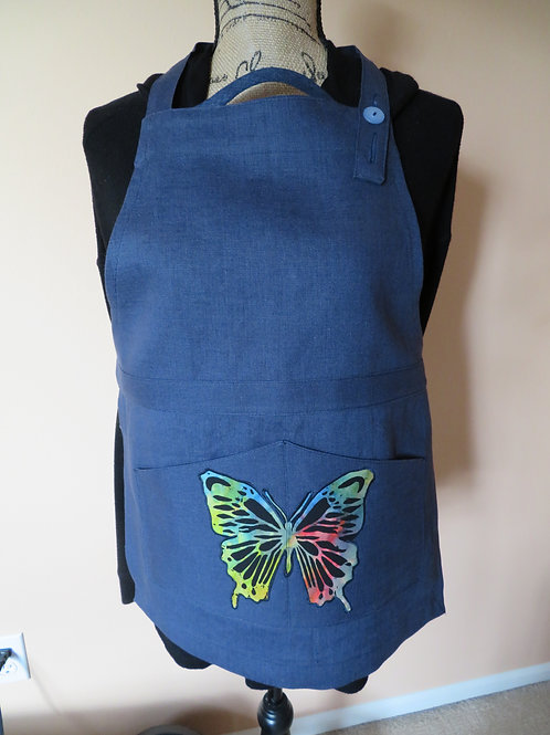 Child's large size Navy blue with Butterfly