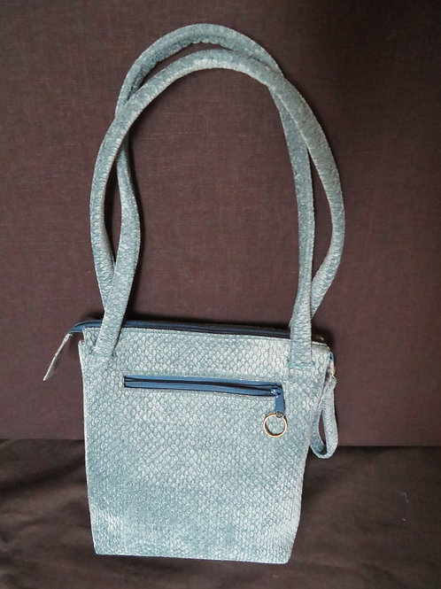 Teal quilted cross body bag