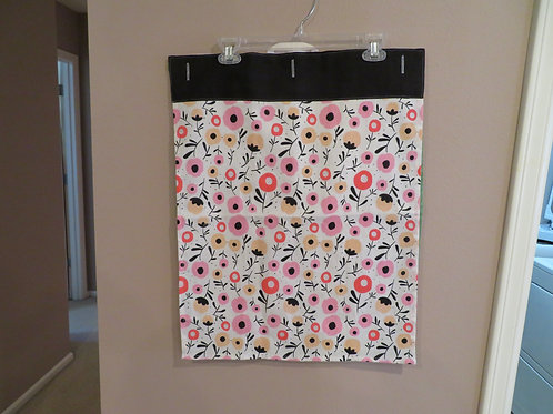 Pink flowers with black trim on top