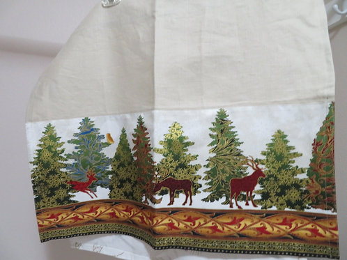 Deer in Forest with ornate border on bottom