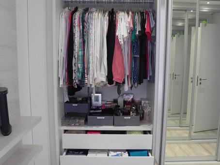 Organizando o armário para o outono