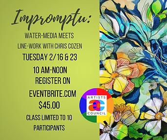 Impromptu_ Water-media meets line-work (