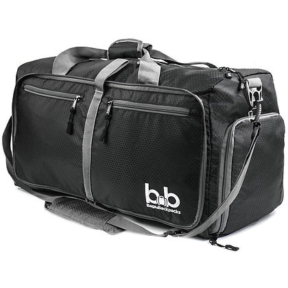 B&B 60L Medium Gym Duffle Bag With Pockets - Foldable Lightweight Travel Bag