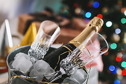 Fles van Champagne