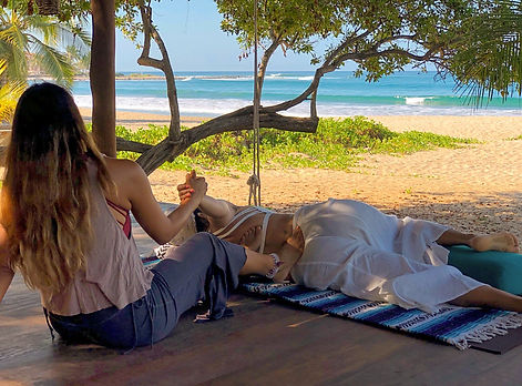 thai massage in Troncones beach