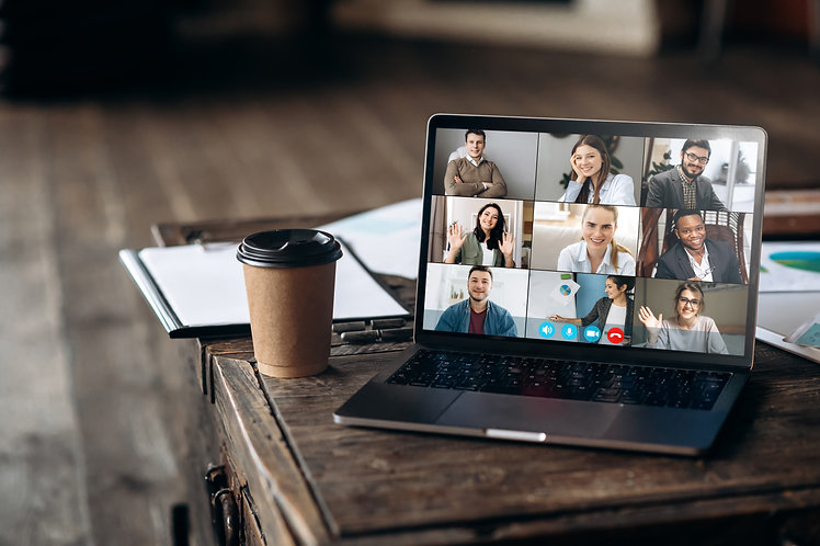 Virtual meeting online. Video conference