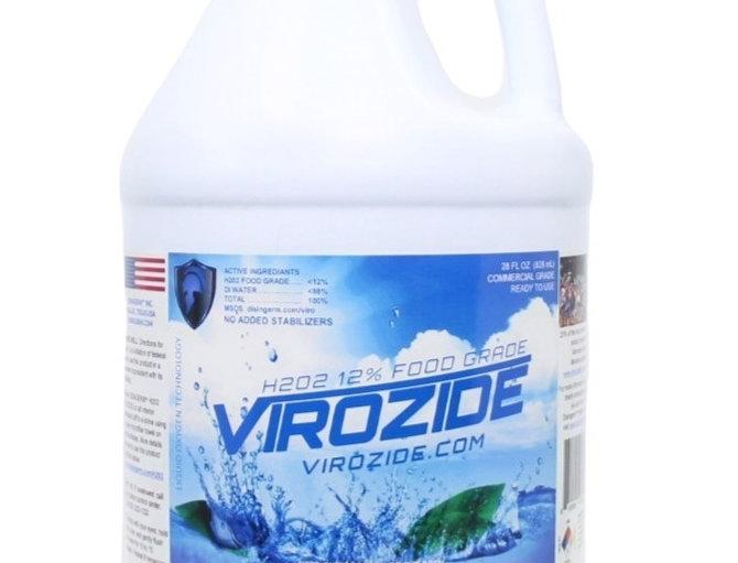 Virozide H2O2 12% Food Grade Hydrogen Peroxide