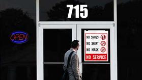 No Shirt, No Shoes, No Mask, No Service in Texas!!