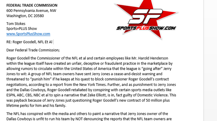 Federal Complaint Filed Against Roger Goodell and the NFL by Dallas Cowboy Fan!