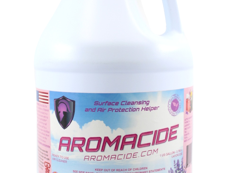Aromacide helps you breath cleaner and  healthier air.