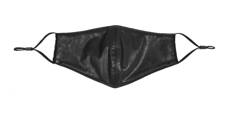 Yuzuki Vegan Leather Face Mask - Black