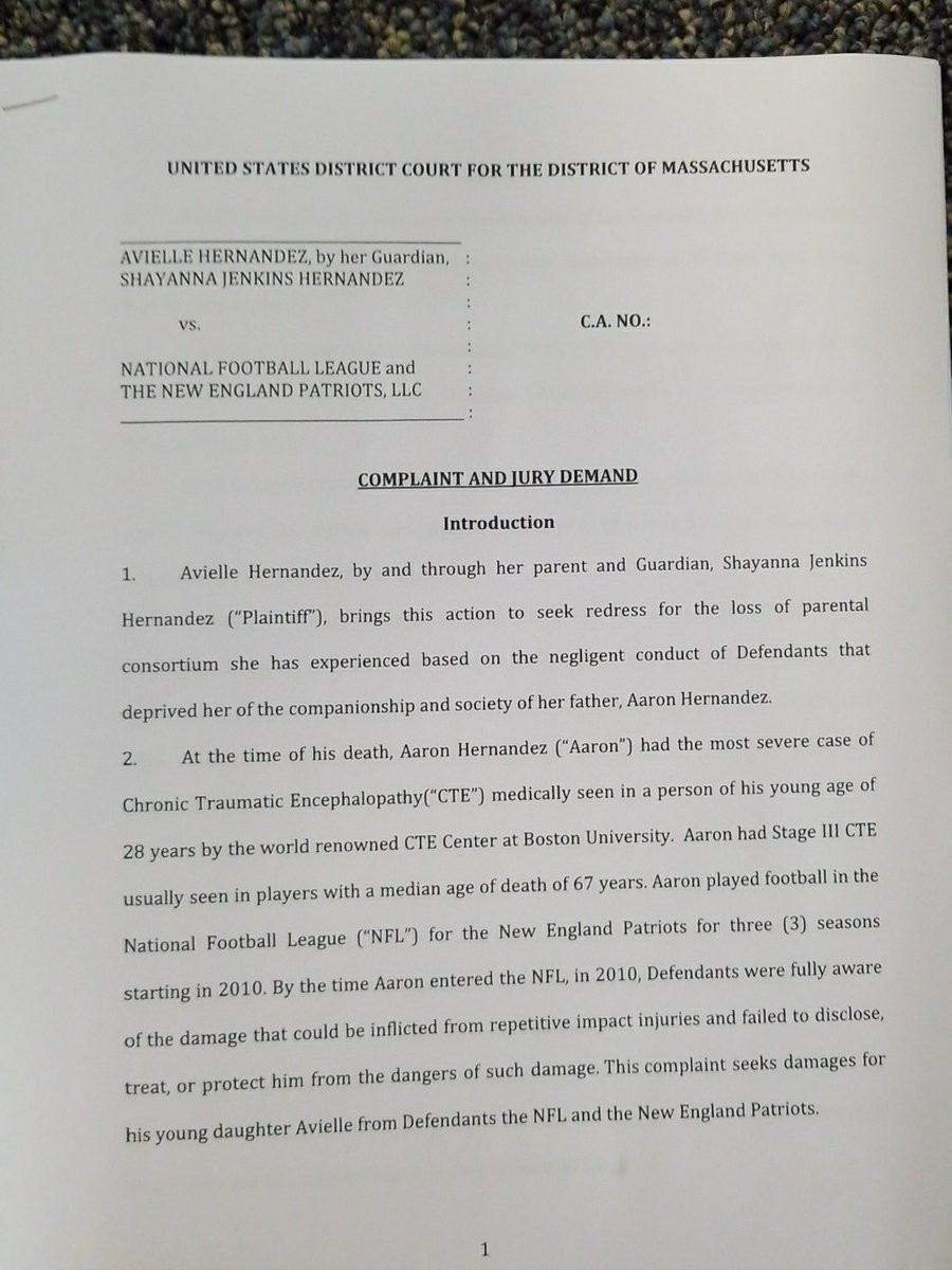 lawsuit against the Patriots and the NFL