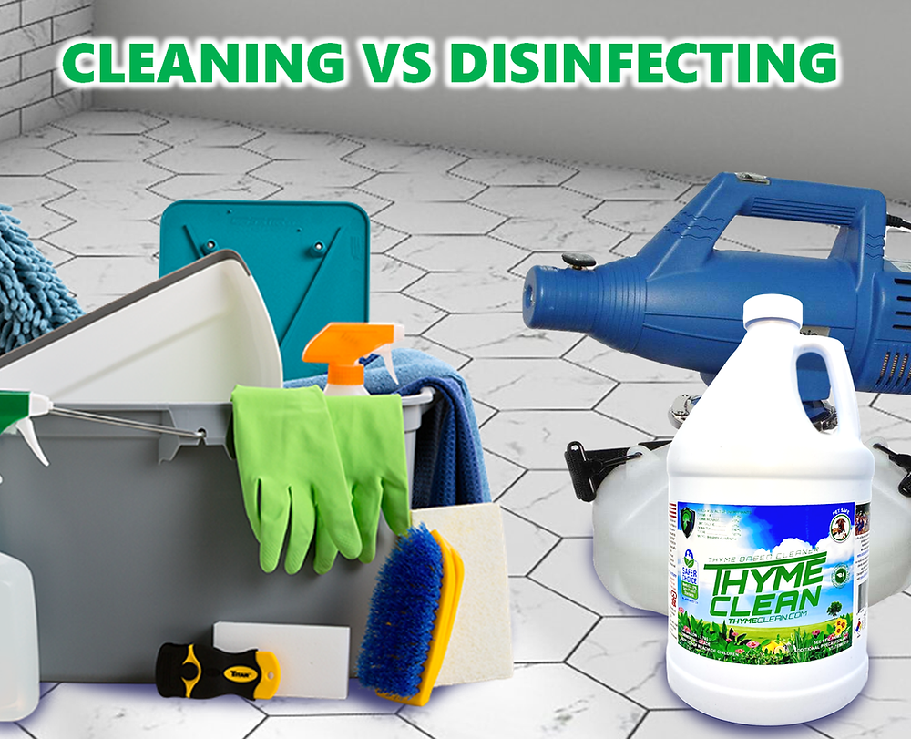 Learn the differences between cleaning and disinfecting