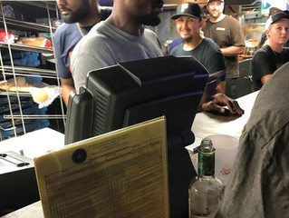 Von Miller helped out when the lines got long at Dixie Chicken College Station, Texas