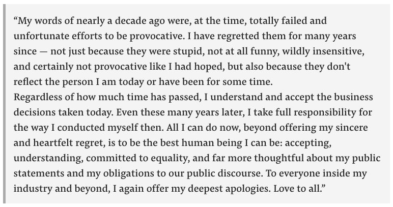 James Gunn Apology
